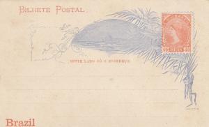 Brasil: post card; cart a bilhete, 40 Reis