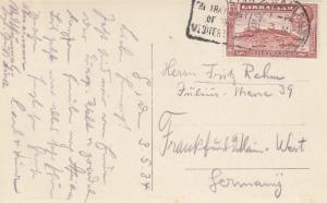 Gibraltar 1934: post card to Frankfurt