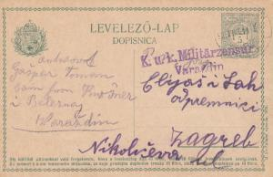 1915: post card Varazdin to Zagreb