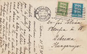 1930: 3x post cards Tallinn, Tamsalo to Debrecen/Hungary