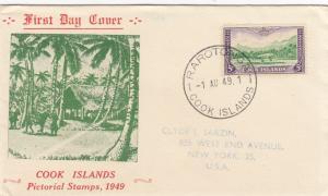 1949: Rarotong FDC to New York