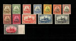 Deutsch-Neuguinea: MiNr. 7-19, postfrisch, **, BPP Attest