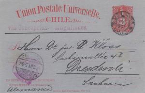 1893/1901: 2x post cards to Dresden/Hamburg