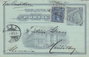 1908: post card Santiago to Heidelberg