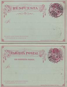 1896: post card with response card Valparaiso