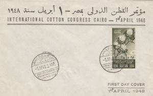 1948: international cotton congress Cairo, FDC