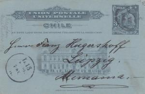 1907: post card Santiago to Leipzig