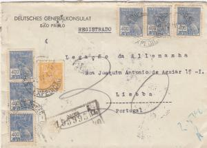 1940: Deutsches Generalkonsulat Sao Paolo, registered to Lisboa
