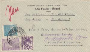 1935: 3x covers Sao Paulo to Lübeck, Düsseldorf, Radebeul