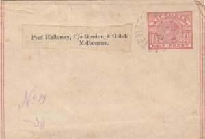 1890: Wrapper Victoria to Melbourne
