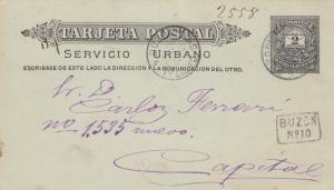 Post card 1897 Montevideo to Capital