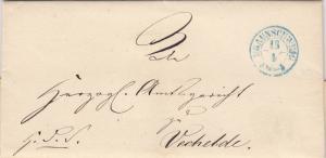 Brief aus Braunschweig nach Vechelde 1853 mit Text