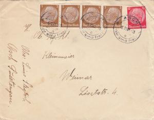Sudetenland: Brief Asch - Wir sind frei - 1938 nach Weimar