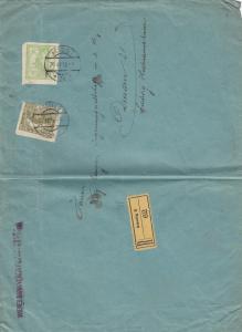 Einschreiben Aussig 1919 nach Dresden, Wiener Bank Verein