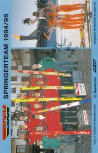 Erinnerungskarte Spingerteam 1994/95, Skispringer, Olympiasieger, DSV, Autogramm