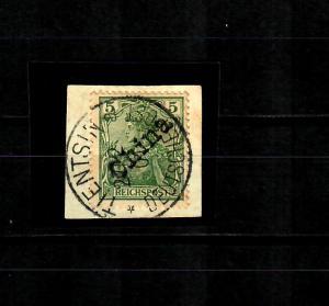 Deutsche Post China MiNr. 9, gestempelt Tientsin, Briefstück, BPP Attest