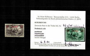 Deutsche Post in der Türkei: MiNr. 46a, gestempelt, rotorange, BPP Befund
