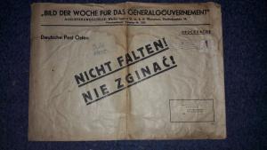 Riesen Kuvert für Plakat-/Bildversand der Partei zum Aushang als Drucksache