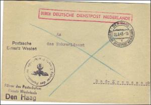 Durch Deutsche Dienstpost Niederlande -  - Führer des Postschutzes