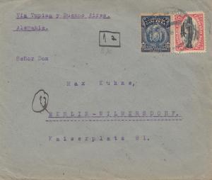 Bolivia/Bolivien: 1931 Cochabamba to Berlin/Germany