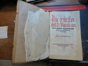 Buch von 1563: Die ersten Epistel S. Pauli an die Corinthier/Bergpredigt