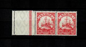 Samoa: MiNr. 22 LF, waagrechtes Paar, postfrisch, **