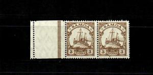 Samoa: MiNr. 20 LF, waagrechtes Paar, postfrisch, **
