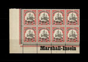 Marschall-Inseln: MiNr. 19, 8er Block links Inschrift Eckrand, postfrisch **