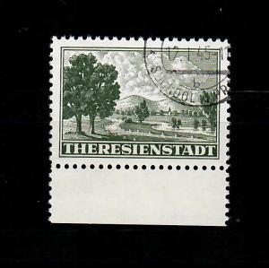 Theresienstadt MiNr. Z1, gestempelt, Unterrand, Signatur Gilbert