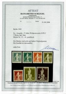 Berlin: MiNr. 35-41, postfrisch, **, BPP Attest