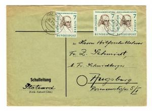 1959 Brief Aindling mit MeF der 7 Pfg.