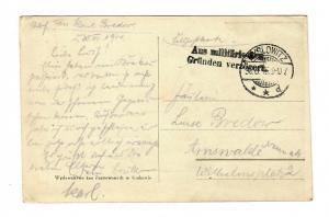 Ansichtskarte I. WK, Krakau, Aus militärischen Gründen verzögert nach Arnswalde