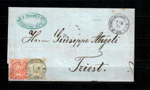 Deutsche Post in der Türkei 1871: NDP Constantinopel nach Triest, Selten