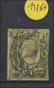Sachsen  gestempelt   MiNr. 11