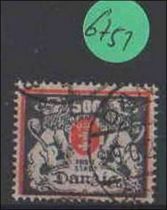 Danzig    gestempelt    MiNr. 144        Stempel geprüft Falsch