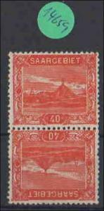 Saargebiet   ungebraucht mit Falz   MiNr. 59 A   Kdr III