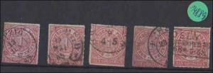 Norddeutscher Postbezirk    gestempelt     5x  MiNr. 4