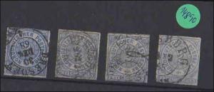 Norddeutscher Postbezirk    gestempelt     4x  MiNr. 5