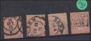 Norddeutscher Postbezirk  ----  gestempelt    4x   MiNr. 15