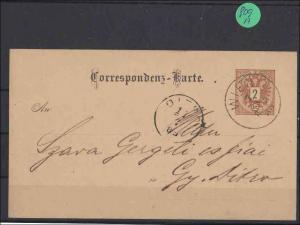 Ganzsache echt gelaufen von 1885          minimale Gebrauchsspuren