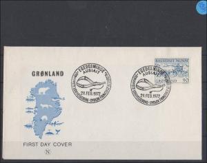 Grönland   Ersttagsbrief