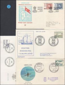 Grönland    4  Ersttagsbriefe