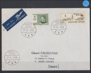 Briefumschlag   Grönland   Luftpost  1975