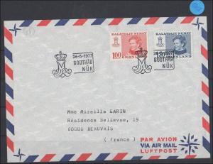 Grönland  Luftpostbrief   1977