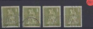 Berlin  Posten/Lot    gestempelt   4x  MiNr. 153
