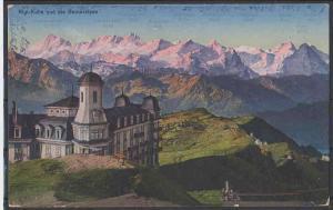 Ansichtskarte   Schweiz Rigi-Kulm und Berneralpen