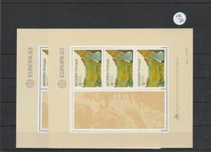 Portugal    Madeira  Block   postfrisch    2x MiNr. Block 4
