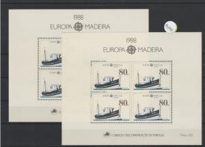 Portugal    Madeira  Block   postfrisch    2x MiNr. Block 9