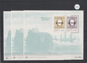 Portugal    Madeira  Block   postfrisch    3x MiNr. Block 1