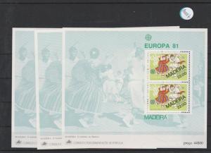 Portugal    Madeira  Block   postfrisch    3x MiNr. Block 2